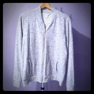 Liz Claiborne light weight grey jacket